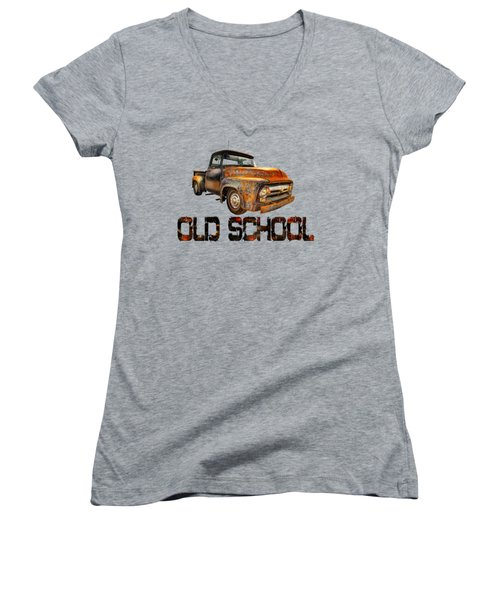 Old Truck Right Attitude Women's V-Neck (Athletic Fit)