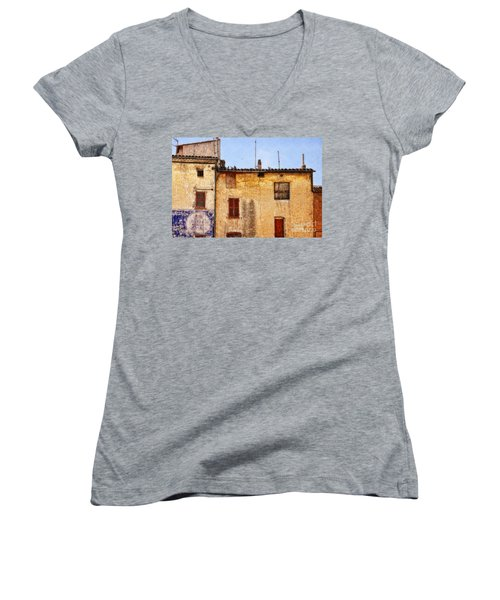 Old Walls In Provence Women's V-Neck