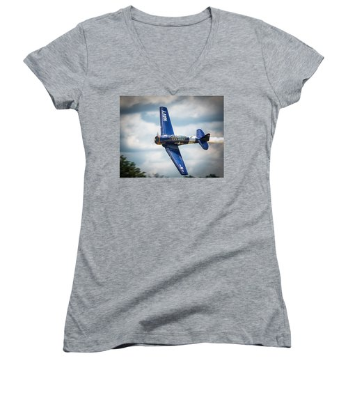 Old Warbird Trainer Women's V-Neck