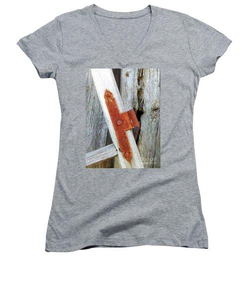 Old Window Women's V-Neck T-Shirt