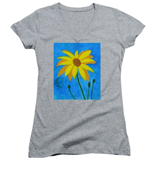 Old Yellow  Women's V-Neck T-Shirt