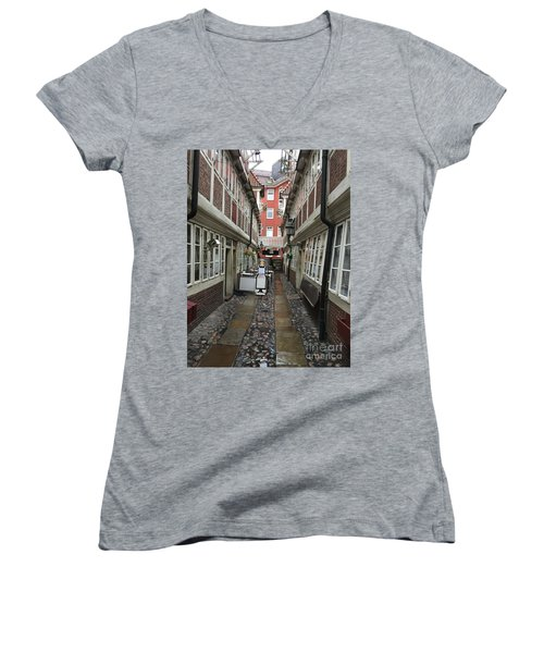 Krameramtsstuben The Oldest Street In Hamburg Germany Women's V-Neck