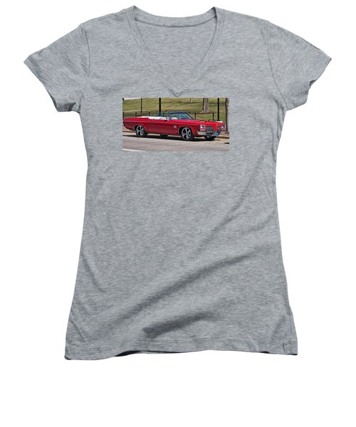 Oldsmobile Delta Royale 88 Red Convertible Women's V-Neck