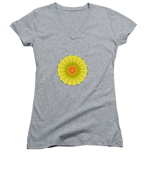 Women's V-Neck featuring the painting Olive Grove by Valerie Anne Kelly