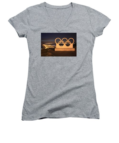 Olympic Rings Portland  Women's V-Neck (Athletic Fit)