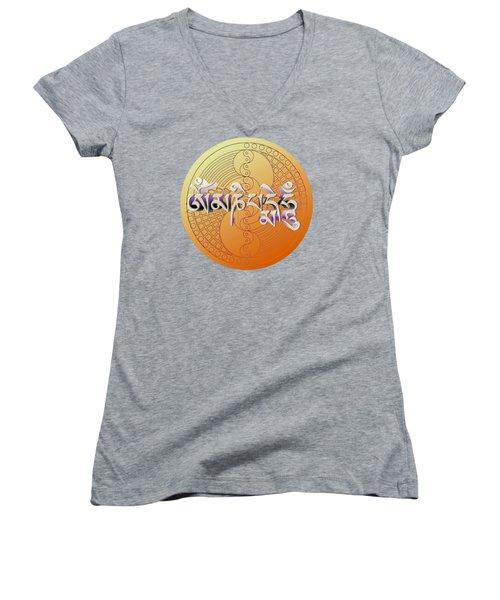 Om Mani Padme Hum Women's V-Neck T-Shirt