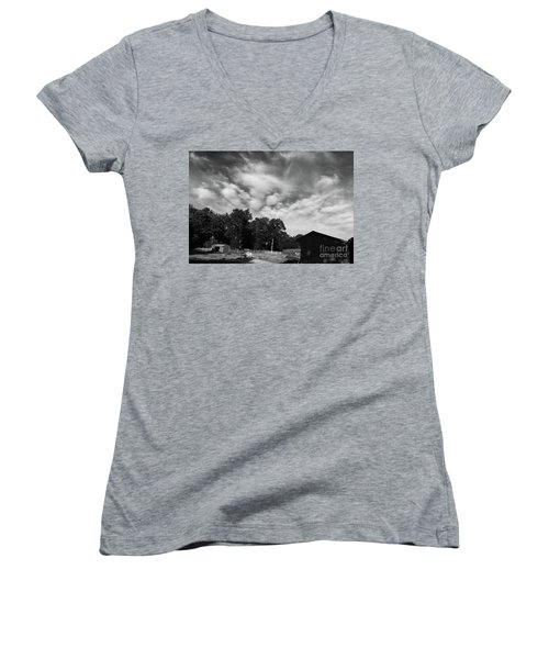 Ominous Sky Women's V-Neck (Athletic Fit)