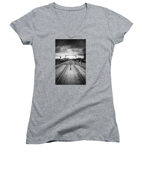On A Gloomy Day Women's V-Neck (Athletic Fit)