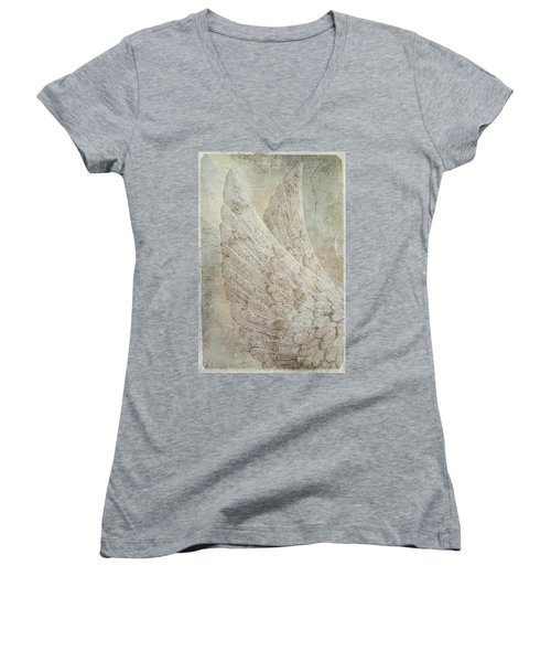 On Angels Wings 2 Women's V-Neck