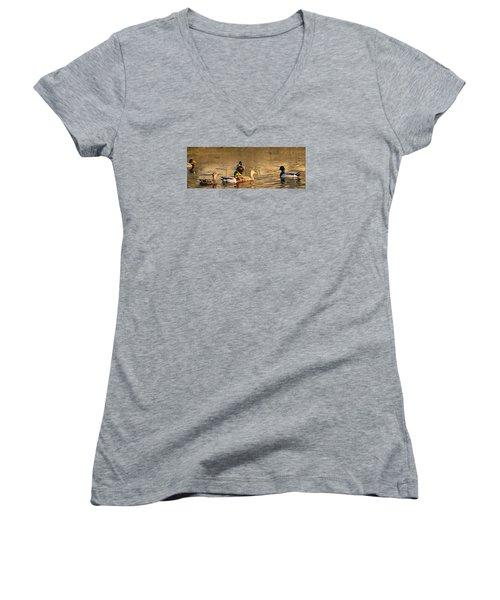 On Golden Pond Women's V-Neck T-Shirt