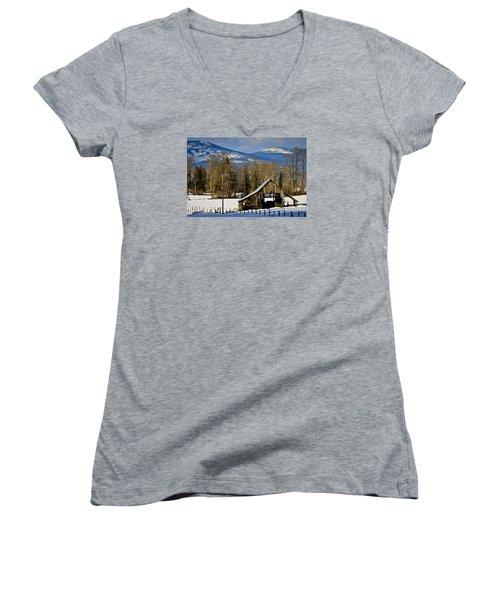 On Hold Women's V-Neck T-Shirt (Junior Cut) by Albert Seger