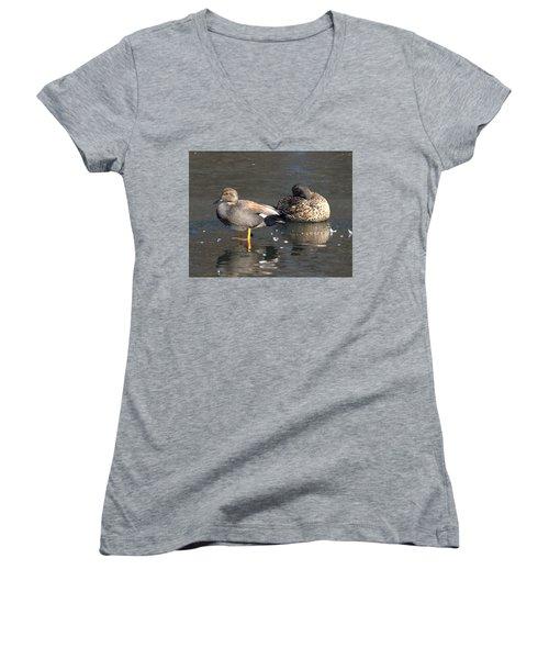 On Ice Women's V-Neck T-Shirt