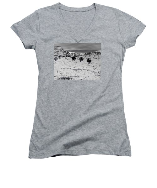 On Our Way Women's V-Neck T-Shirt (Junior Cut) by Keith Elliott