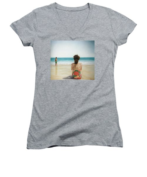 On The Beach Women's V-Neck (Athletic Fit)
