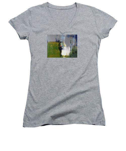 On The Edge Women's V-Neck T-Shirt (Junior Cut) by Becky Chappell