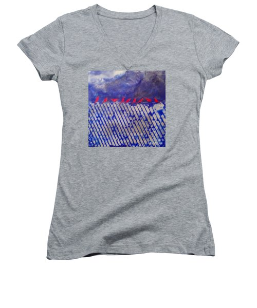 On The Fence Women's V-Neck (Athletic Fit)