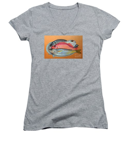On The Platter Women's V-Neck T-Shirt