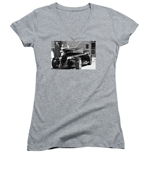 Women's V-Neck T-Shirt (Junior Cut) featuring the photograph On The Prowl by Al Fritz