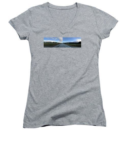 On The Road Women's V-Neck T-Shirt (Junior Cut) by Alex King