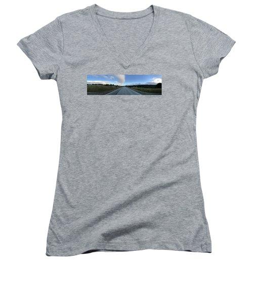 On The Road Women's V-Neck T-Shirt