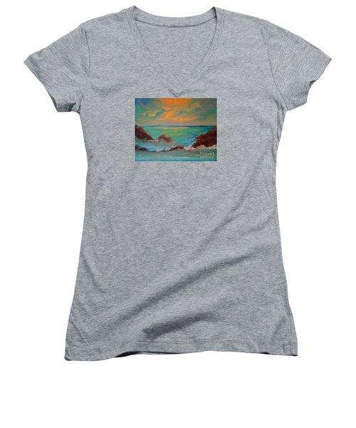 On The Rocks Women's V-Neck T-Shirt