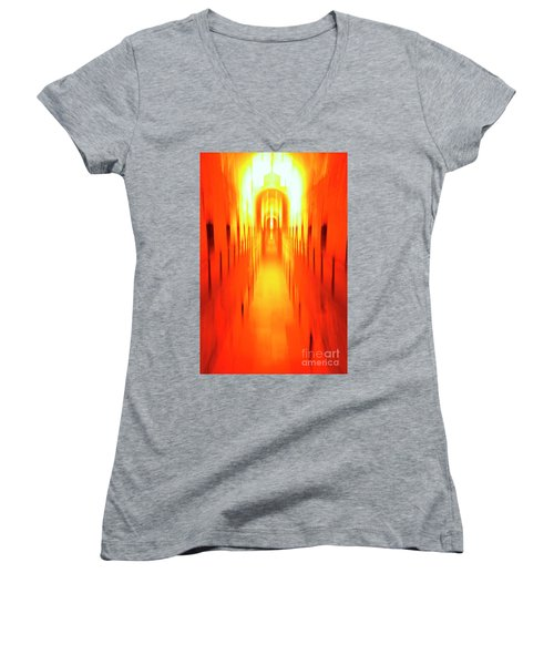 Women's V-Neck T-Shirt (Junior Cut) featuring the photograph On The Way To Death Row by Paul W Faust - Impressions of Light