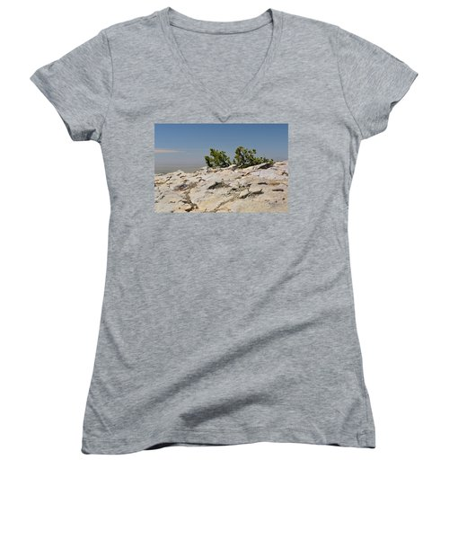 On Top Of Sandia Mountain Women's V-Neck (Athletic Fit)