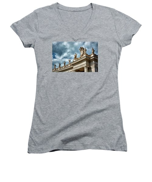 On Top Of The Tuscan Colonnades Women's V-Neck
