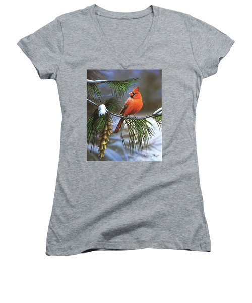 On Watch - Cardinal Women's V-Neck