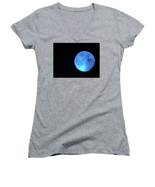 Once In A Blue Moon Women's V-Neck (Athletic Fit)