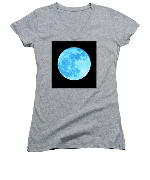 Once In A Blue Moon Women's V-Neck