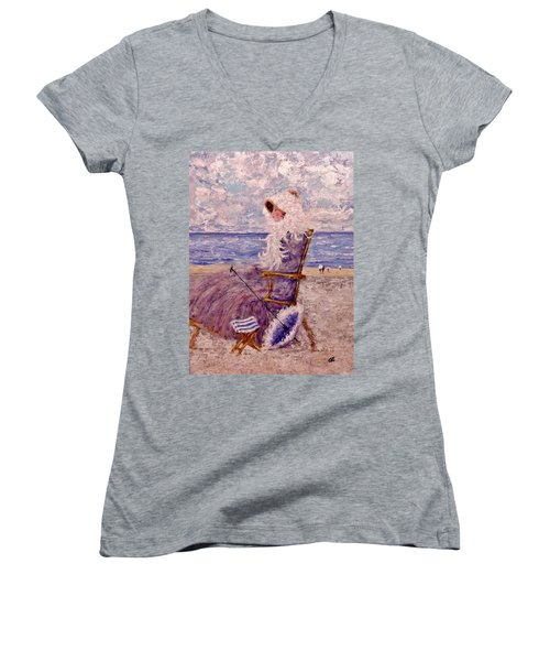 Once Upon A Time II Women's V-Neck T-Shirt (Junior Cut) by Cristina Mihailescu