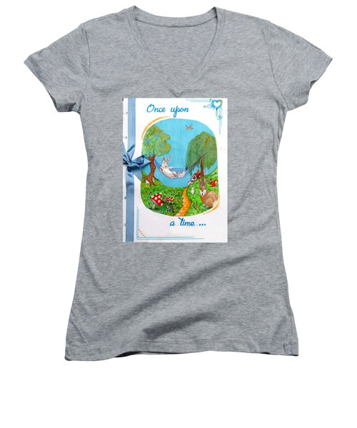 Once Upon A Time Women's V-Neck (Athletic Fit)