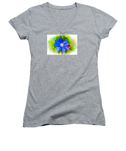 One Bloom - Pla226 Women's V-Neck T-Shirt