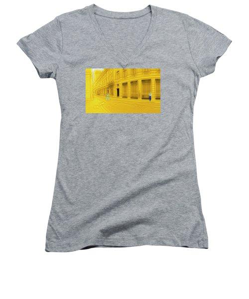 One-legged Man Women's V-Neck T-Shirt