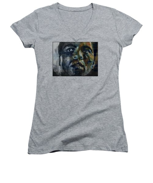 One Of A Kind  Women's V-Neck T-Shirt (Junior Cut) by Paul Lovering