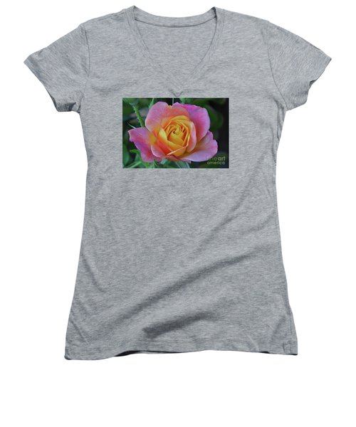 One Of Several Roses Women's V-Neck (Athletic Fit)