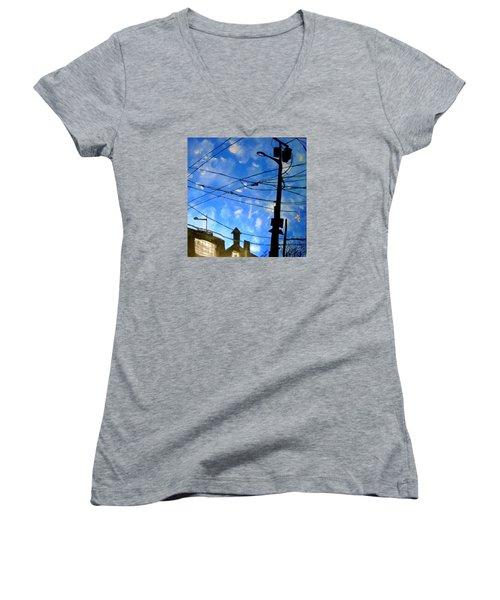 One Philly Sky Women's V-Neck T-Shirt