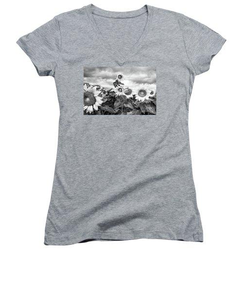 One Stands Tall Women's V-Neck T-Shirt (Junior Cut)