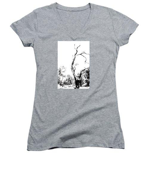 One Tree - 0192 Women's V-Neck T-Shirt (Junior Cut) by G L Sarti