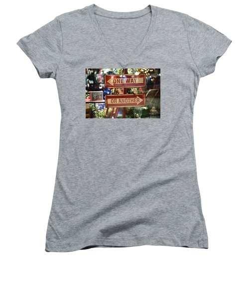 One Way Or Another Women's V-Neck