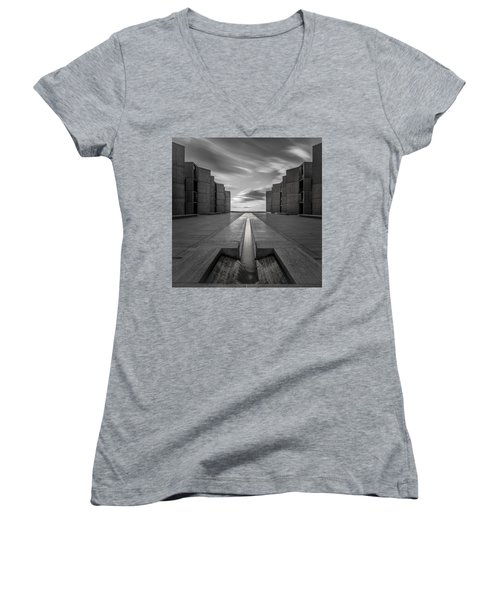 Women's V-Neck T-Shirt (Junior Cut) featuring the photograph One Way by Ryan Weddle