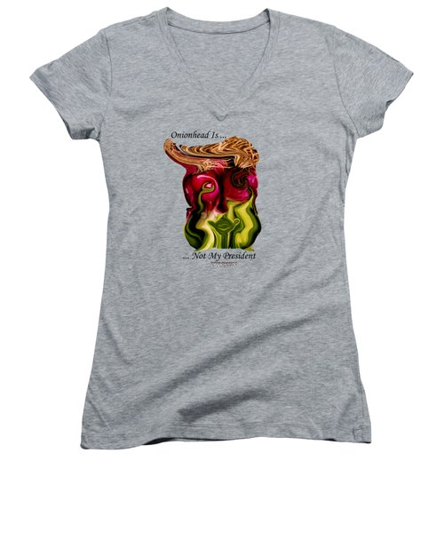 Onionhead Transparency Women's V-Neck (Athletic Fit)
