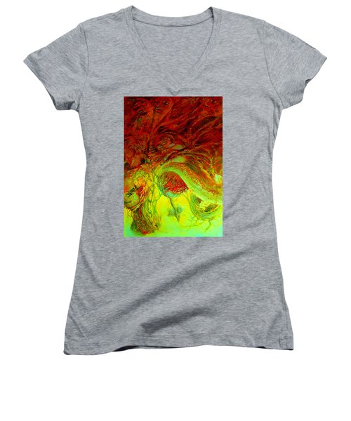 Oniristic Space Women's V-Neck (Athletic Fit)