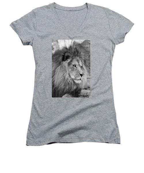 Onyo #13 Black And White Women's V-Neck T-Shirt