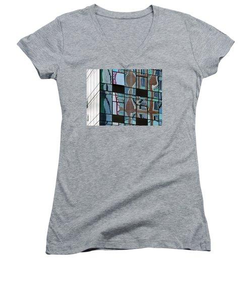 Op Art Windows I Women's V-Neck T-Shirt