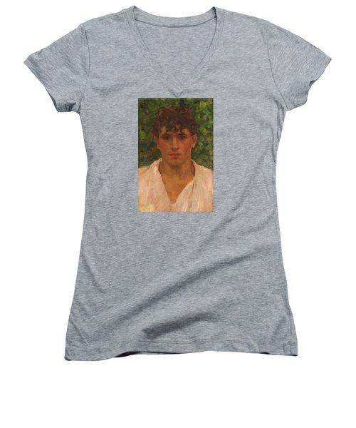 Open Collar Women's V-Neck T-Shirt