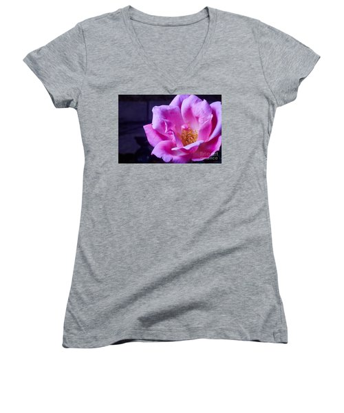 Open Rose Women's V-Neck