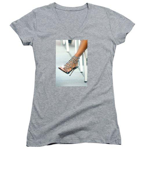 Open Toe Women's V-Neck T-Shirt
