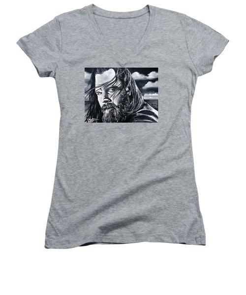 Opie Women's V-Neck T-Shirt (Junior Cut) by Tom Carlton